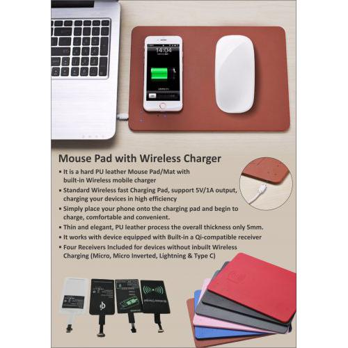 XECH Mouse Pad With Mobile Charger