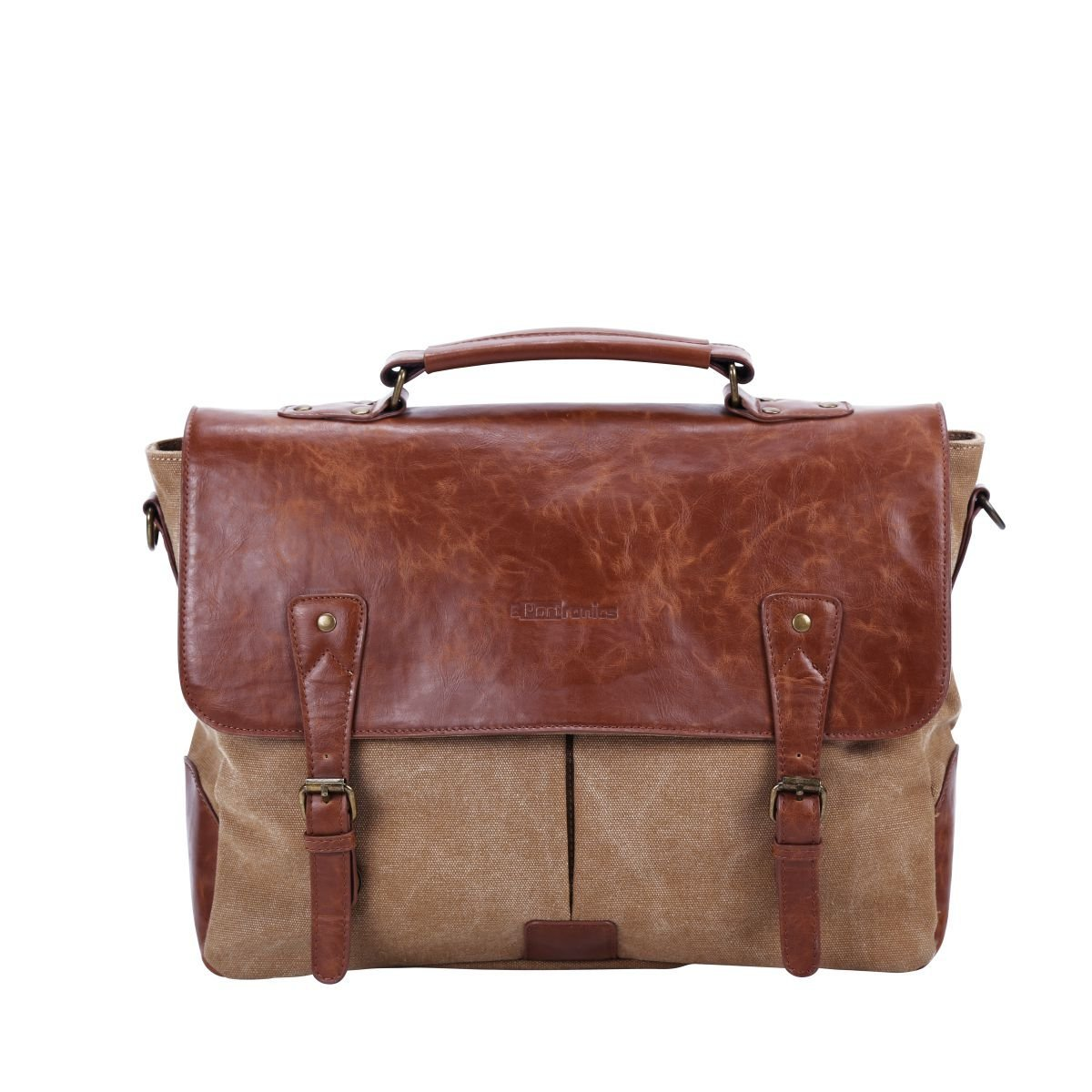 Portronics Unisex POR-643 Elements Messenger Laptop Bag (Brown)