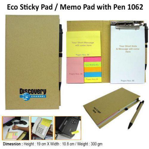 Eco Sticky Note Pad with Ball Pen P1062