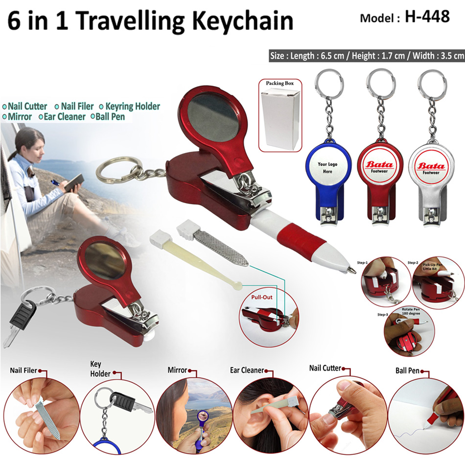 6 in 1 Travelling Keychain H-448