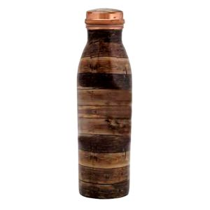 Jointless Wooden Touch 1000ML Copper Bottlle DC-46