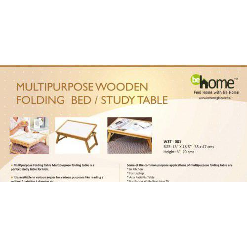 BeHome Multipurpose Wooden Folding Bed / Study Table WST - 001