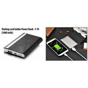 VISITING CARD HOLDER POWER BANK (3,000 MAH) C70