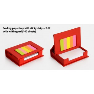 FOLDING PAPER TRAY WITH STICKY NOTES (100 SHEETS) B67
