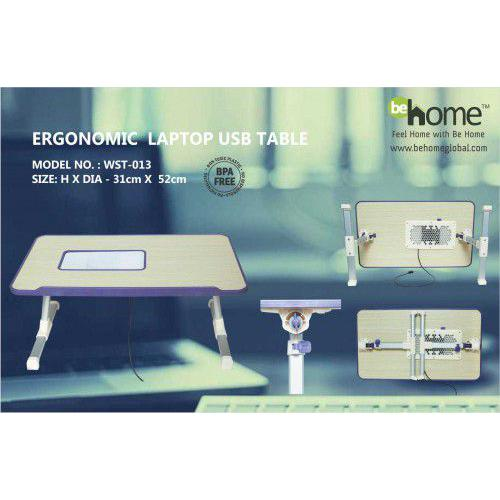 BeHome Ergonomic Laptop Usb Table WST-013