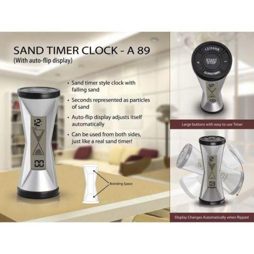 Sand timer clock (with auto flip display)