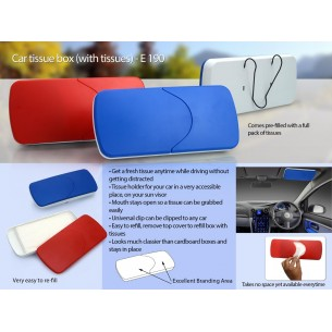 CAR TISSUE BOX (WITH TISSUES) E190