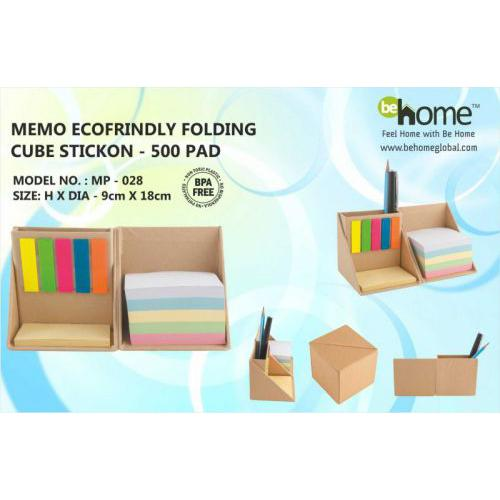 BeHome Memo Ecofriendly Folding Cube Stickon MP-028