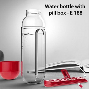 WATER BOTTLE WITH PILL BOX E188