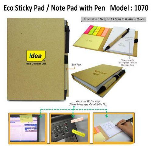 Eco Sticky Pad with Pen-1070