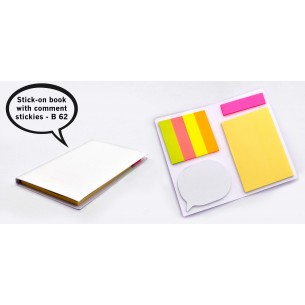 STICK-ON BOOK WITH COMMENT STICKIES B62
