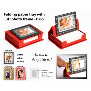 FOLDING PAPER TRAY WITH 3D PHOTO FRAME (100 SHEETS) B66