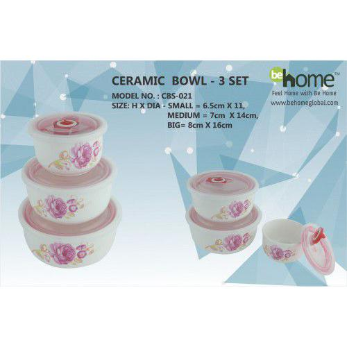 BeHome Ceramic Bowl - 3 Set CBS - 021