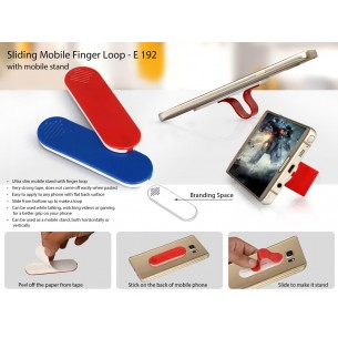 SLIDING MOBILE FINGER LOOP (WITH MOBILE STAND) E192