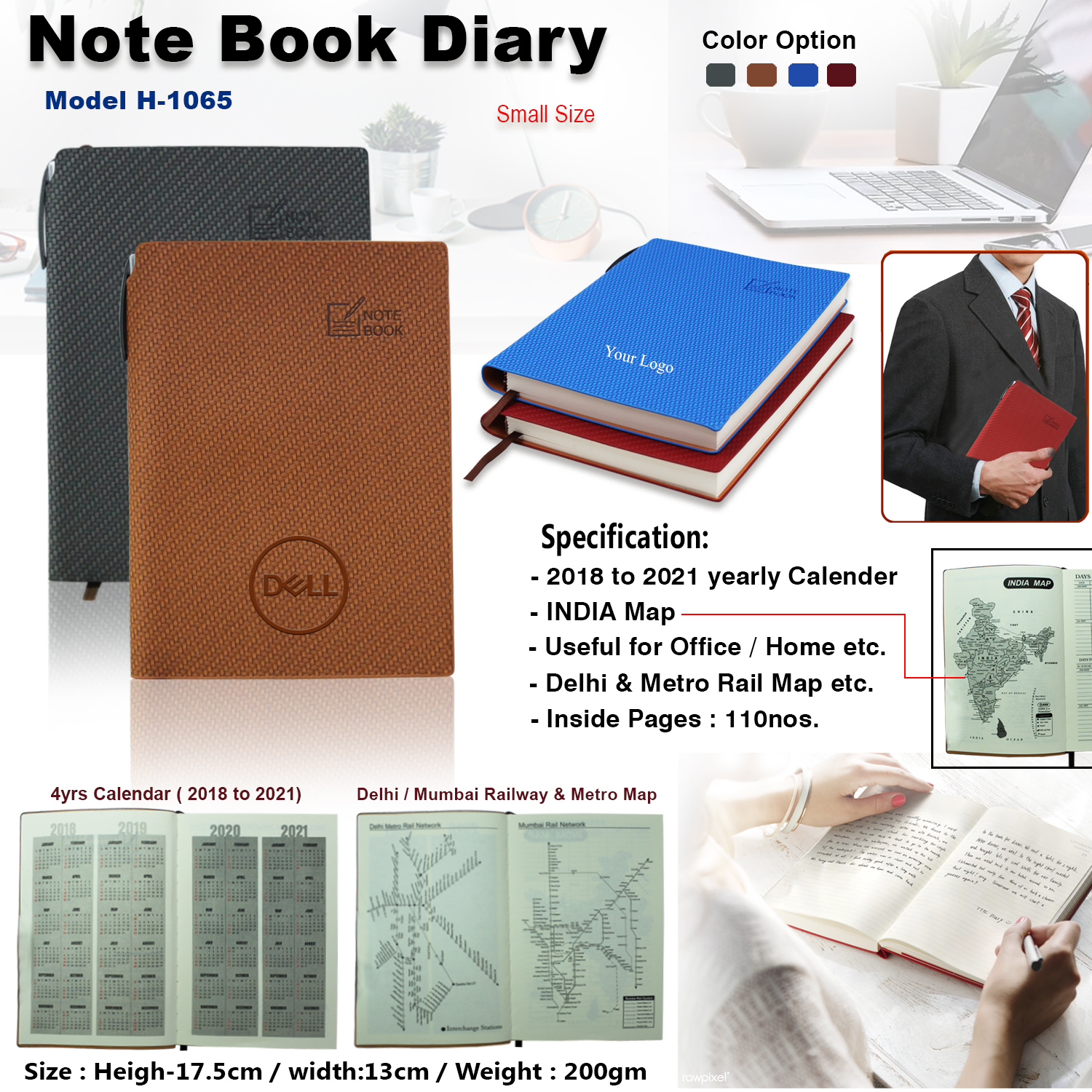 Note Book Office Diary H-1065