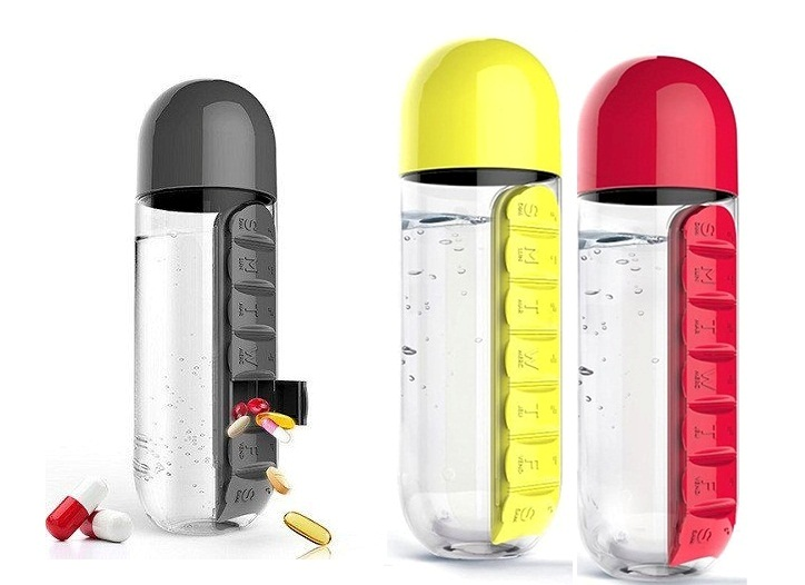 600MI.PILL WATER BOTTLE HA-137