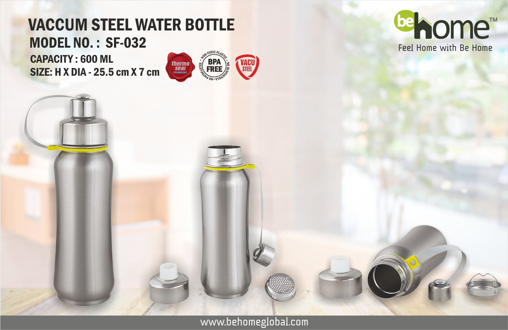 BeHome Vacuum Steel Bottles SF � 032