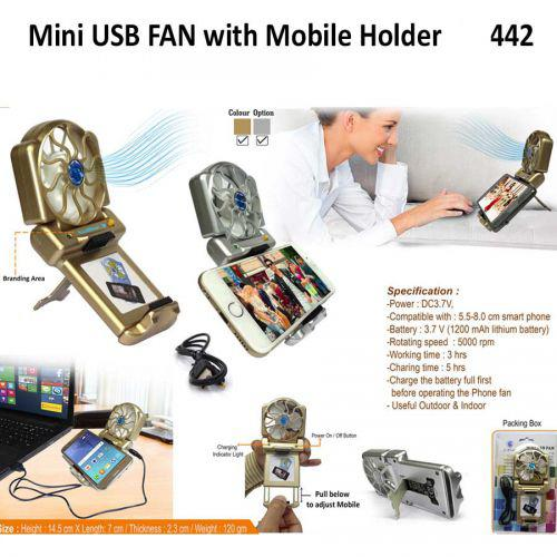 Mini USB FAN with Mobile Holder 442