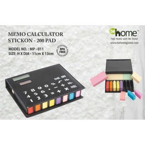 BeHome Memo Calculator Sticok MP-011