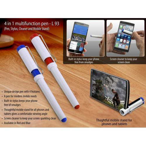 4 in 1 multifunction pen (Pen, Stylus, Cleaner and