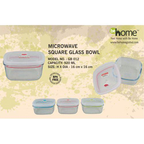 BeHome Microwave Square Glass Bowl GB - 012
