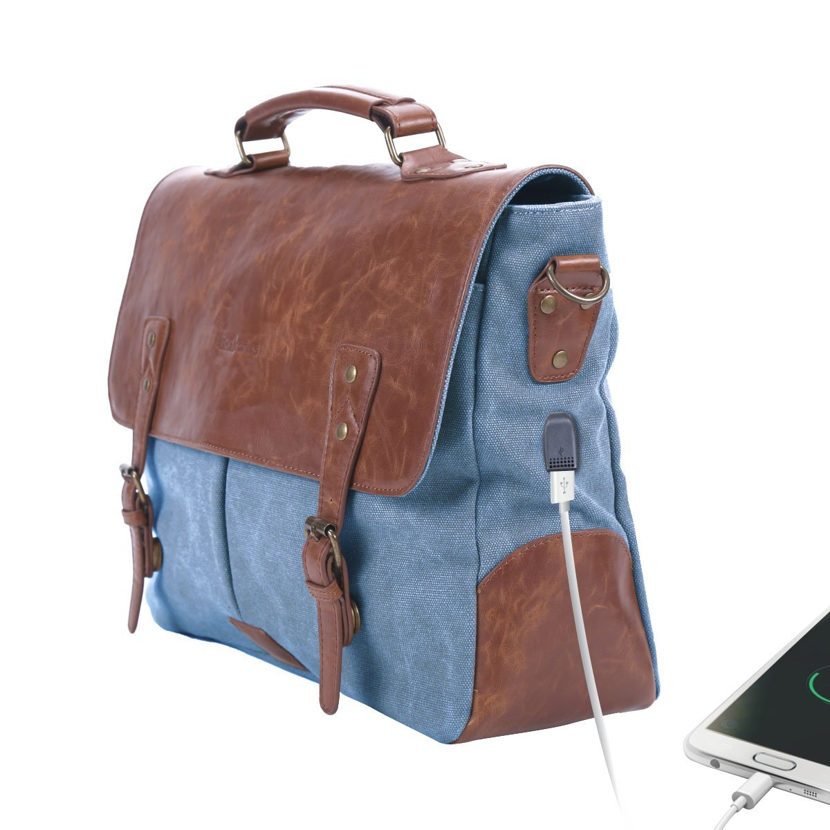 Portronics POR-822 Unisex Laptop Bag with an in-Built USB 2.0 Charging Port