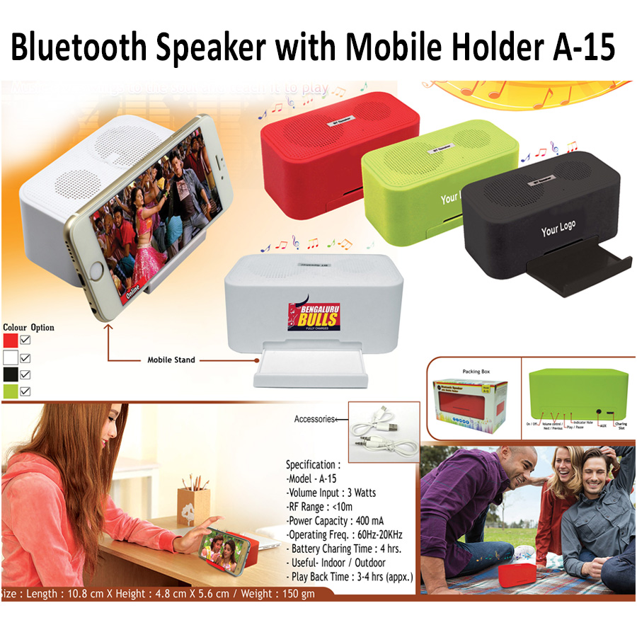 Bluetooth Speaker with Mobile Holder A-15