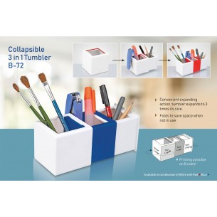 COLLAPSIBLE 3 IN 1 TUMBLER B72