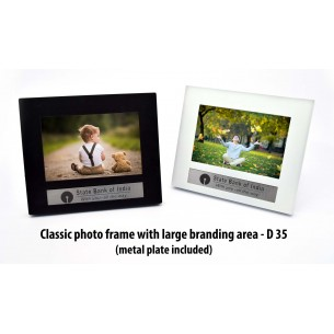 CLASSIC PHOTO FRAME WITH LARGE BRANDING AREA (WITH METAL PLATE) D35