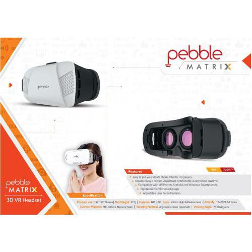 Pebble 3D VR Headset (Black/White)