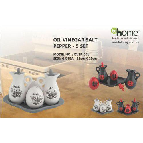 BeHome Oil Vinegar Salt Pepper OVSP-001
