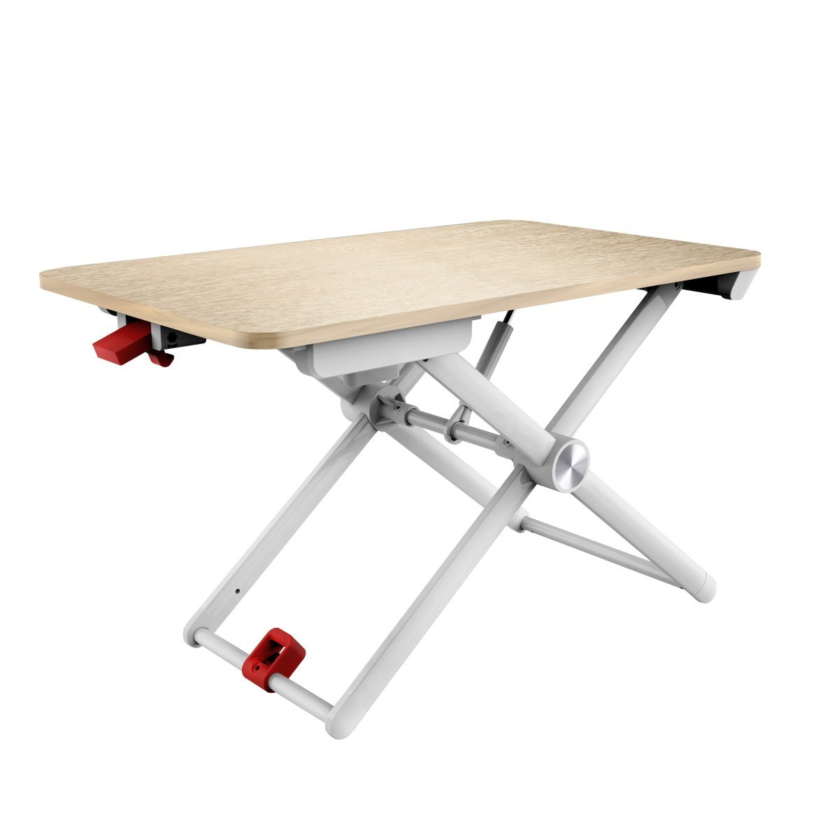 Portronics POR-857 My Buddy X A Hydraulic Piston Fitted Height Adjustable Laptop Stand (White)