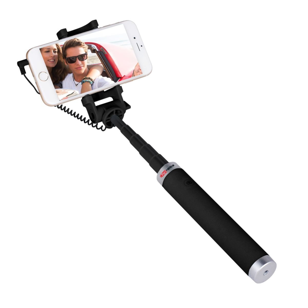 Portronics POR-853_Groupy Portable Wired Selfie Stick has a User Friendly Design with a Rotational H