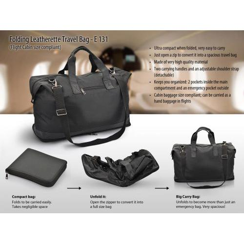 Folding Travel Bag (Leatherette)