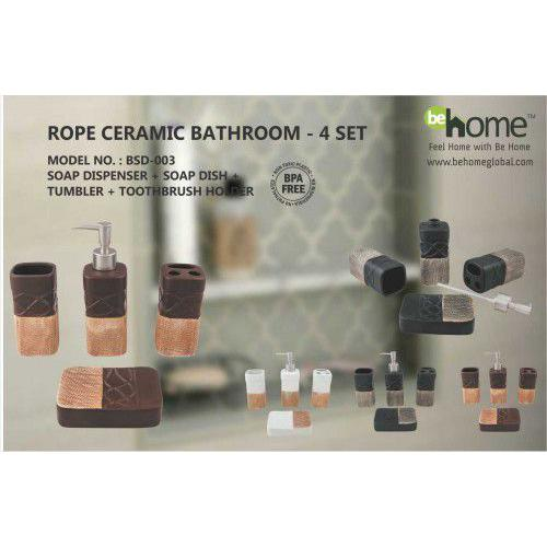BeHome Rope Ceramic Bathroom Set BSD-003