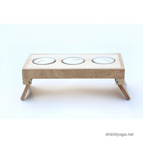 Candles Folding Table Wooden
