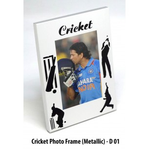 CRICKET PHOTO FRAME (METAL) D01
