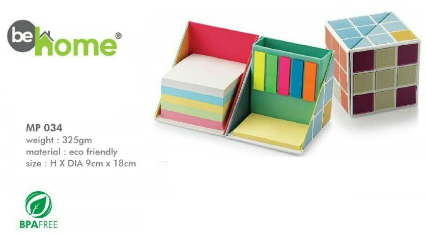 BeHome Memo Ecofriendly Folding Cube Stickon MP � 034