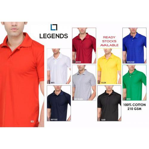 ec33e2a3c Legends 210 GSM Cotton Polo T-Shirt in bulk for corporate gifting |  Promotional Collar Neck T-shirt wholesale distributor & supplier in Mumbai  India