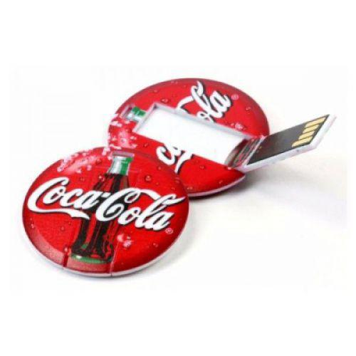 Round Card USB Pen Drive 8GB