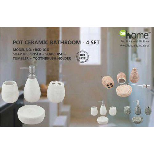 BeHome Pot Ceramic Bathroom Set BSD-016