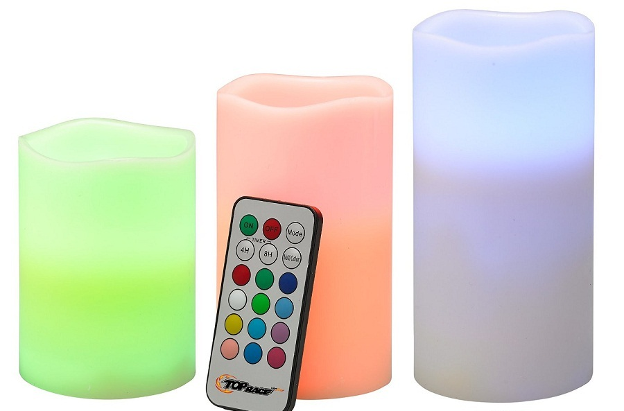3PC LED PLASTIC CANDLE WITH REMOTE SP-001