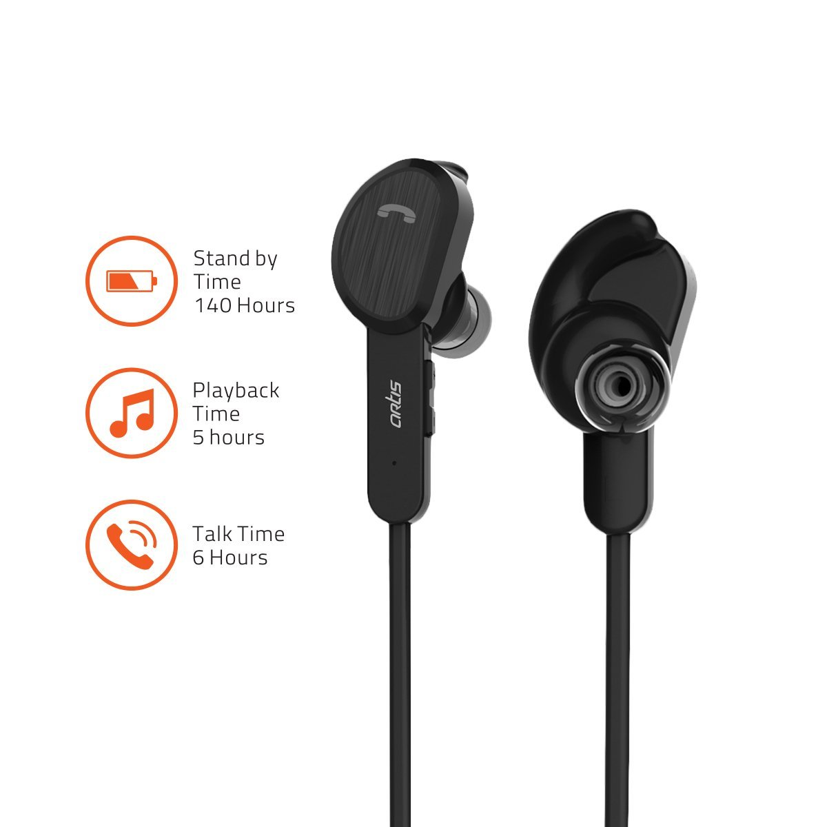 Artis BE410M Magnetic Sports Bluetooth 4.2 Earphones with Mic. for handsfree Calling