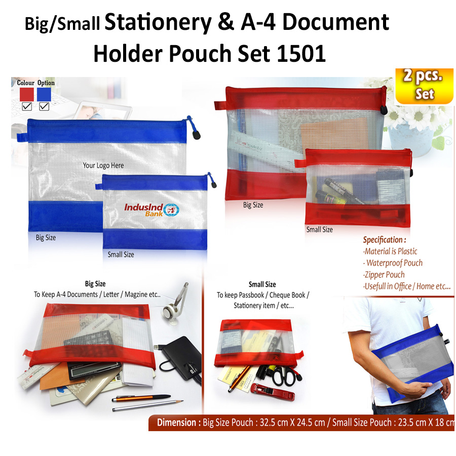 Big / Small Stationery-A4 Document Holder Pouch Set H-1501