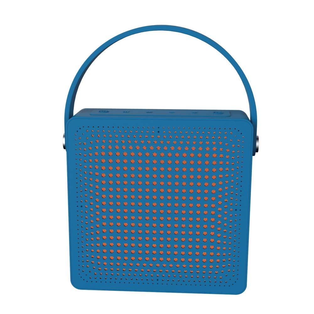 Pebble Heavy Bass Stereo Sound Splashproof Bluetooth Speaker (Blue) BassX Extreme