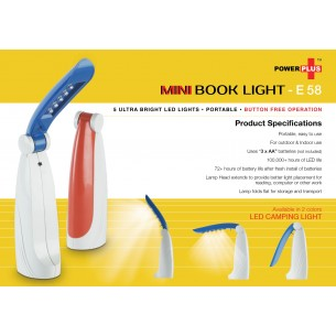 POWER PLUS BOOK READING LIGHT E58