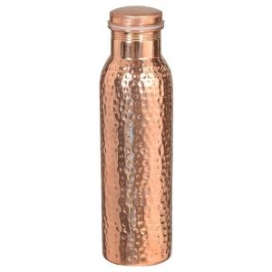 Jointless Hammered 100% Pure copper water bottle 700ML DC-06