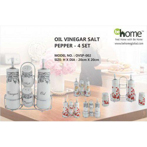 BeHome Oil Vinegar Salt Pepper OVSP-002