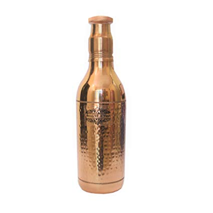 Copper Hammered Champagne Mughlai Bottle 1200ML DC-49