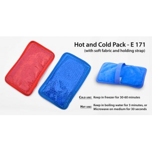 HOT AND COLD PACK (WITH SOFT FABRIC AND HOLDING STRAP) E171